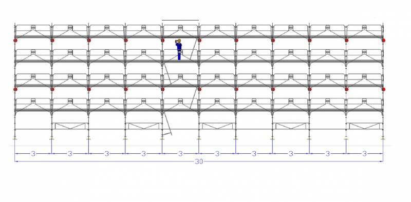 echafaudage facadier duo 45 dacame long 30m x 10 m de. Black Bedroom Furniture Sets. Home Design Ideas