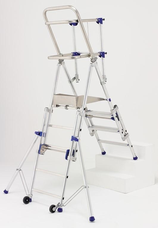 Lot de 2 plateformes de travail r glables en hauteur - Treteaux reglables en hauteur ...