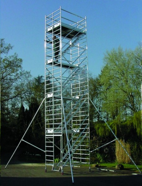 echafaudage tour escalier roulante docker 150 duarib aluminium spe. Black Bedroom Furniture Sets. Home Design Ideas