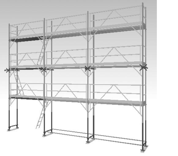 echafaudage facadier acier r200 comabi garde corps fusio montage securise spe. Black Bedroom Furniture Sets. Home Design Ideas