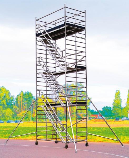 ECHAFAUDAGE STARLIUM 600 ESCALIER TUBESCA-COMABI ALUMINIUM