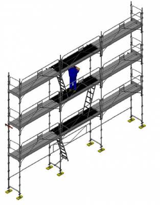 echafaudage facadier dacame lot duo 45 80m2 gcsm spe. Black Bedroom Furniture Sets. Home Design Ideas