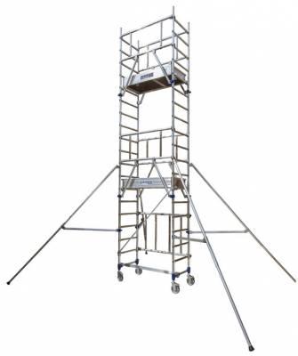 ECHAFAUDAGE INSIDER 120 SX PLIANT ROULANT TUBESCA-COMABI ALUMINIUM