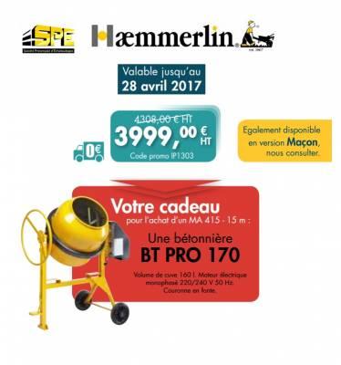 BETONNIERE BT PRO 170 HAEMMERLIN