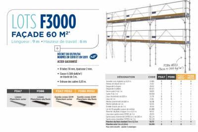 echafaudages promo lots f3000 duarib facade 60m longueur. Black Bedroom Furniture Sets. Home Design Ideas